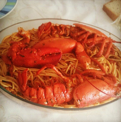Greek Lobster pasta Astakomakaronada by Litsa!