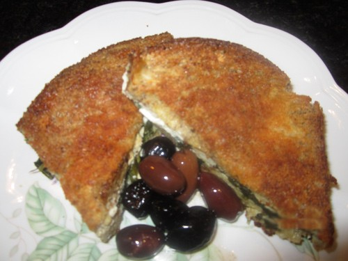 Strata with spinach and feta cheese,Litsa!