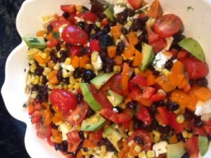 Crazy colorful salad