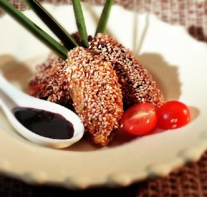 Chicken wings with sesame Litsa1