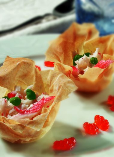 Phyllo nests with Seafood!