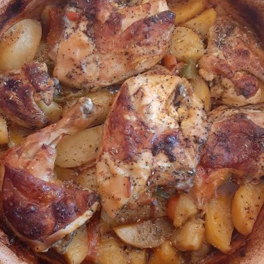Chicken with potatoes Tserepa!