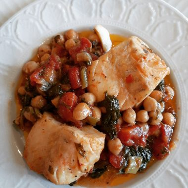 Chickpeas,Spinach and Cod!